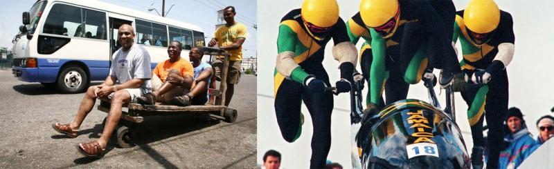 Jamaica gewinnt 1988 olypmisches Gold in der Disziplin Bob.