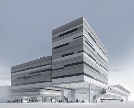 Ab 2016 wird das neue Gebäude Arbeitsplatz für 100 Mitarbeiter und Ausbildungsplatz für bis zu 450 Studenten sein.