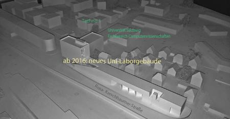 Modell Unilaborgebäude