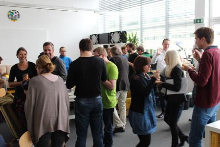 Die Verkostung fand im Coworkingspace im Techno-Z statt.