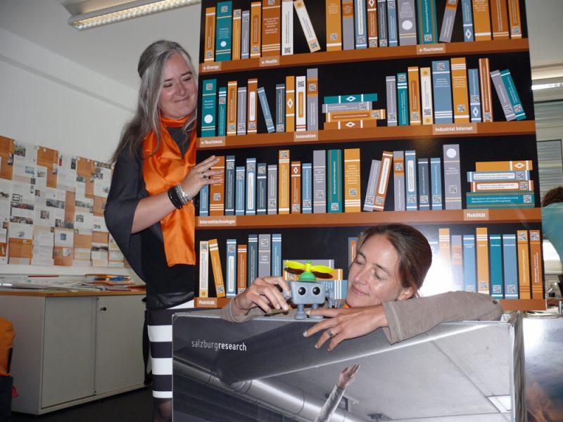 Birgit Strohmeier und Julia Eder von der Salzburg Research
