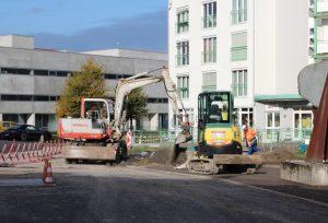 Bauarbeiten Techno 2-4 Parkplätze