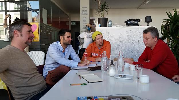 Team: Gerd Roider, Rene Dorfinger, mit Freemotion Geschäftsführer Schrempf.