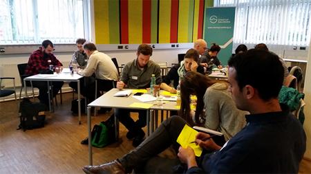 48h intensiv: an der Geschäftsidee weiterarbeiten: angepasst an den Bedarf der Teilnehmer.