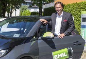 Emil, BMW i3 im Stadtverkehr. Foto: SalzburgAG/Kolarik, 21.07.15