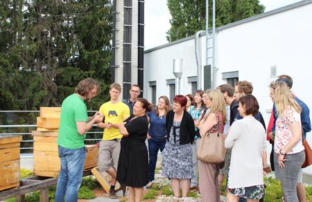Bernd Marte von ARS ist leidenschaftlicher Imker und unser Techno-Z Bienen Guru vor Ort.