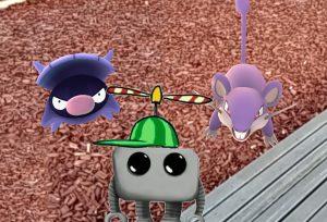 T1Z1 mit Muschas und Rattfratz aus Pokémon Go