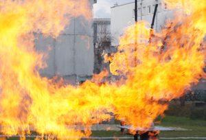 Feuer und Flamen am Techno-Z-Campus