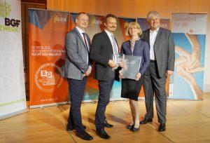 Auszeichnung für betriebliche Gesundheitsförderung.