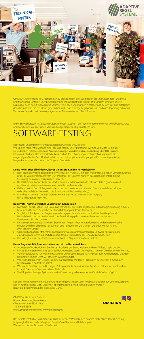Job Software Testing