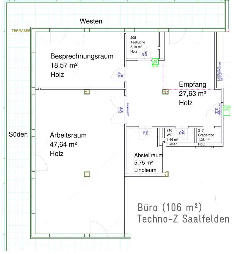 Büro in Saalfelden: Raumplan Techno-Z Saalfelden