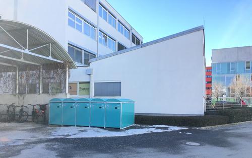 Rad-Boxen im Techno-Z Salzburg