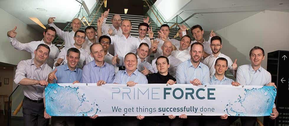 Teamfoto Prime Force Mitarbeiter
